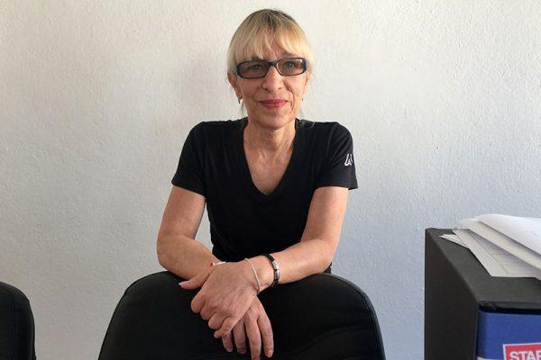 Daniela, la responsabile del servizio pulizie industriali.